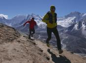 Ueli Steck and David Goettler trail running in Nepal