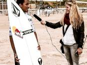 Interviewing Carlos Munoz at the Cascais Pro, Portugal